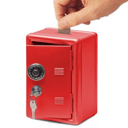 Caja Fuerte Metal Vault Rojo