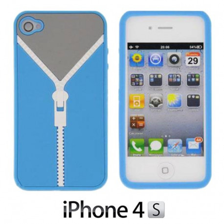 Funda compatible con iphone Silicona Cremallera
