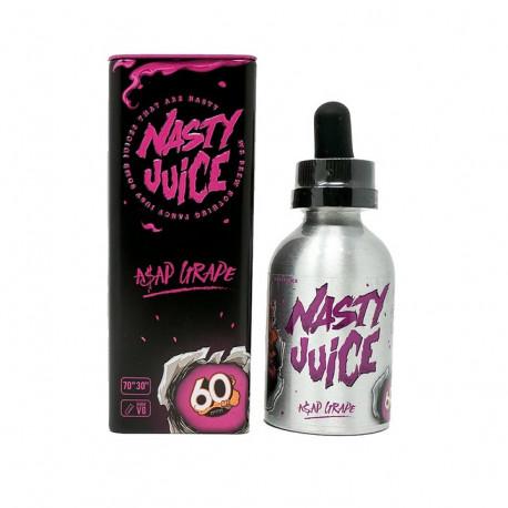 E-LÍQUIDO NASTY JUICE ASAP GRAPE sin nicotina 50ml envase 60ml